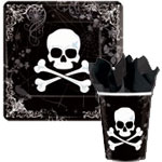Skull and Bones Halloween paper goods