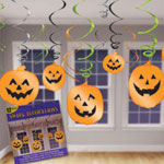 Halloween Pumpkin Hanging Swirls
