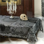 Halloween lace tablecover