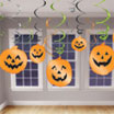 Pumpkin hanging swirls
