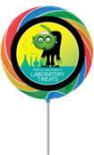 Halloween lab custom lollipops