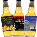 Personalized Halloween beer bottle labels