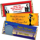 Custom Halloween candy bar wrappers,