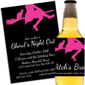 Ghoul's Night Out, Halloween Witch Theme Invitation