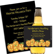 pumpkin theme invitations and party favors