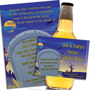 Halloween tombstone theme invitations and party favors