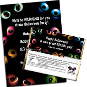 personalized eyes theme invitation