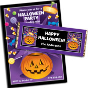 Pumpkin and candy Halloween party supplies
