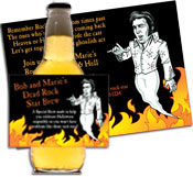 Dead rock star invitations and party favors for Halloween