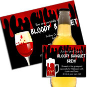 Bloody Halloween party supplies. Party supplies for Halloween blood theme party.