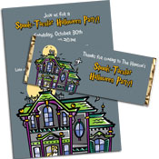 Spooky House theme halloween invitation