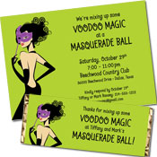 Custom Voodoo Masquerade party supples