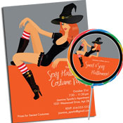 Sexy Halloween  invitations and party favors
