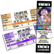 Halloween ticket invitations