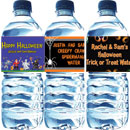 Personalized Halloween water bottle labels