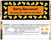 personalized candy corn candy bar wrapper