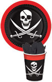 Pirate theme paper goods
