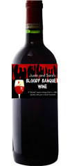 personalized blood theme wine bottle label