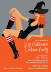 Sexy Wtich Halloween Invitations and Favors