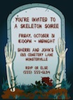 personalized skeleton theme invitation