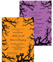 Personalized Halloween wedding invitations
