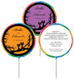 personalized halloween wedding lollipops