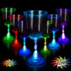 Light up wine goblets