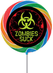 personalized zombie theme lollipops favors