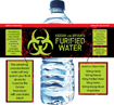 personalized zombie water bottle label favors