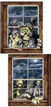 zombie window scene setters decorations