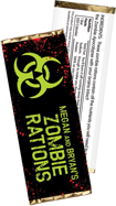 zombie theme candy bar wrappers