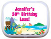 personalized luau theme mint and candy tin