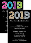 personalized new years 2012 invitation