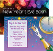 personalized new years clock invitation