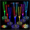 LED champagne glasses