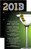 personalized casino new year's invitation