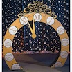 giant clock cutout arch
