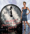 personalized clock new year's decoration
