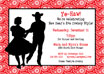personalized western cowboy invitation