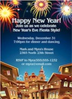 personalized new year's fiesta invitation
