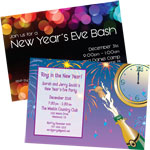New Year's Eve Theme invtiations