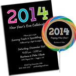 New Year's Eve 204 Theme Invitations and Favors