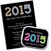 New Year's Eve 2015 Theme Invitations and Favors