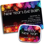 Custom New Years Eve party invitations, party supplies and favors