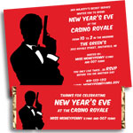 New Year's Eve Casino Theme invtiations