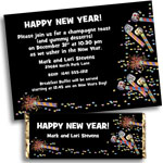 New Year's Eve Confetti Theme invtiations