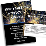 New Year's Eve Fireworks Theme invtiations