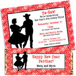 New Year's Eve Western Theme invtiations