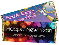 candy bar wrappers new years eve party favors