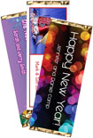 2014 new years eve clock candy bar wrapper